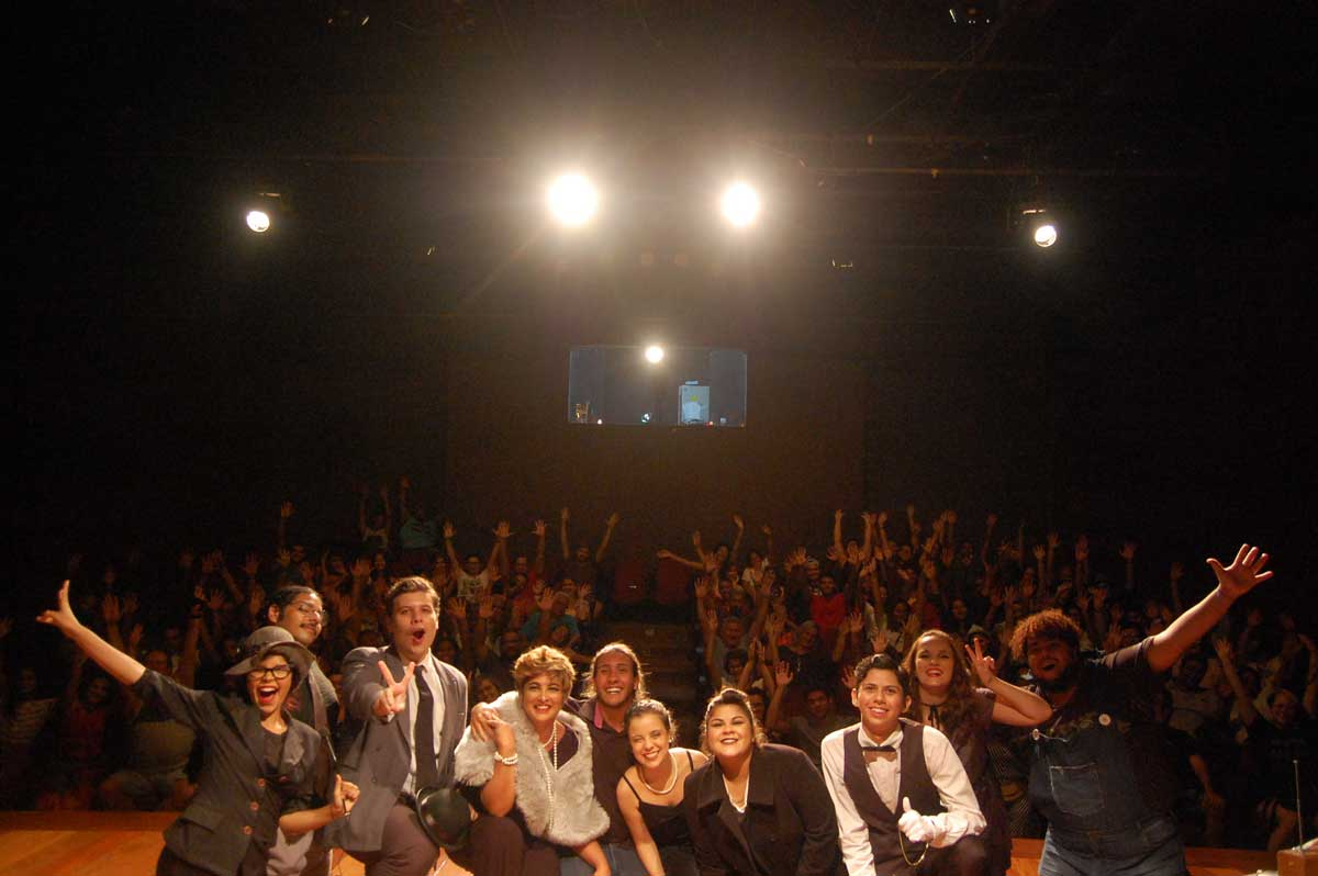Apresentação de 'Morre uma estrela', no Teatro Sylvio Monteiro, em Nova Iguaçu. Foto: divulgação/Cia de Teatro Uz Outrus