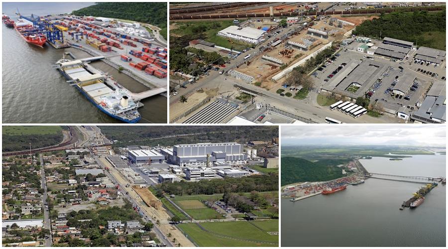 Porto de Itaguaí é subutilizado, segundo Rabelo. Fotos: Divulgação/Docas Rio e PAC