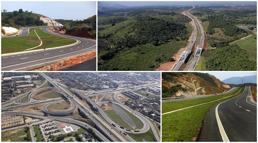 Arco Metropolitano precisa de ordenamento fundiário para atrair empresas. Fotos: João dos Santos/Aerofoto/Blog do Planalto e Divulgação/PAC
