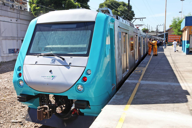 Trem brasileiro, fabricado pela Alstom, faz parte das novas composições  compradas para renovar a frota. Foto: Marcelo Horn/Divulgação